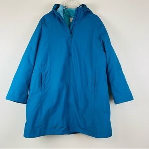 Woman Within Aqua Lined Long Zip Up Jacket Size 1X